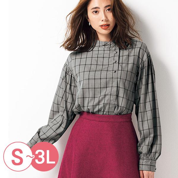 日本代購-cecile不對稱鈕扣設計蜜桃絨立領發熱襯衫(共三色/S-LL) 日本代購,CECILE,發熱衣