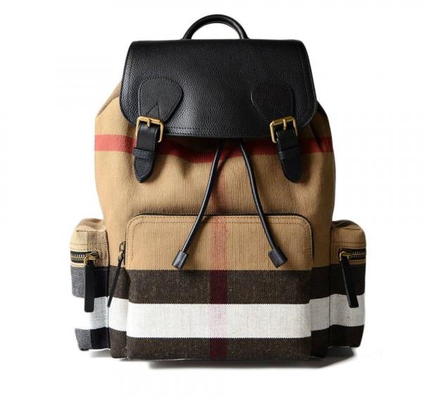日本代購-特價BURBERRY 皮革翻蓋格紋後背包cksack後背包(小)(售價已折) 日本代購,BURBERRY,後背包