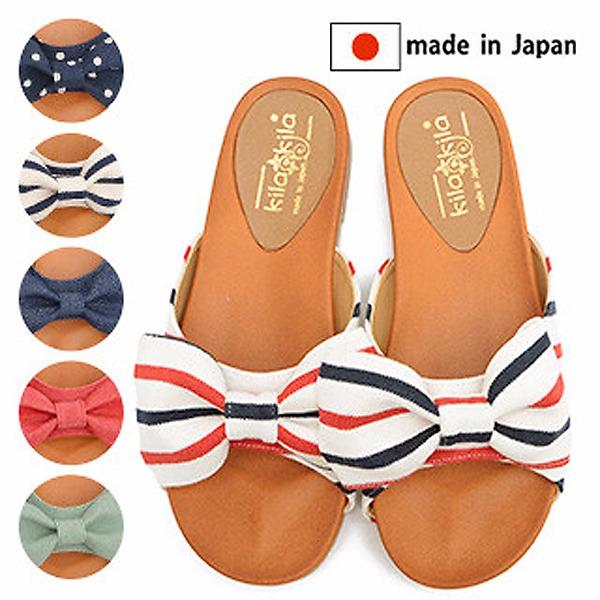 日本代購-日本製立體蝴蝶結柔軟膠底防滑拖鞋(共六色) 日本空運,東區時尚,拖鞋
