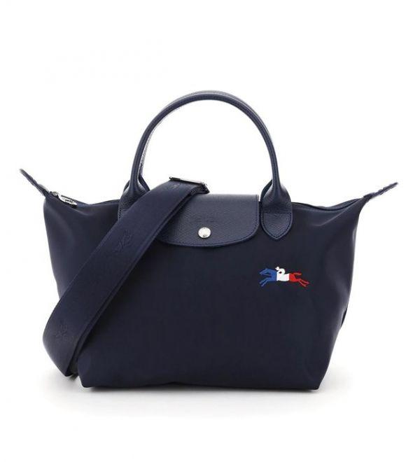 LONGCHAMP LE PLIAGE CLUB系列 刺繡LOGO尼龍 XS 附背帶(售價已折) 日本代購,Longchamp