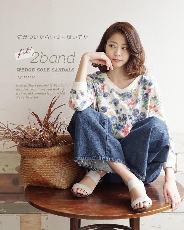 日本代購-特價e-zakkamania南國風情楔型涼鞋(售價已折) 日本代購,涼鞋,日本