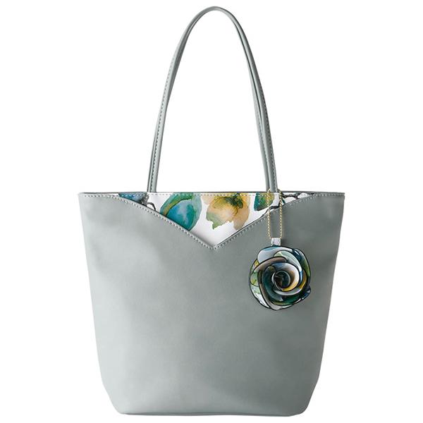 日本代購-印花V型外袋玫瑰吊飾手提肩背包(共四色) 日本空運,東區時尚,手提袋