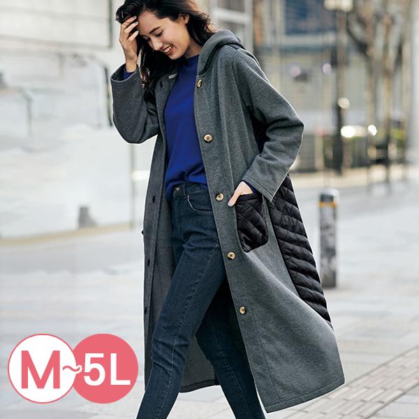 日本代購-RyuRyu mall異材質拼接拉絨連帽外套(共三色/M-LL) 日本代購,RyuRyu mall,連帽