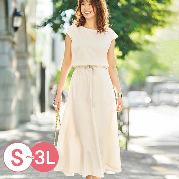 日本代購-優雅流蘇抽繩連身洋裝(共三色/S-LL) 日本代購,洋裝
