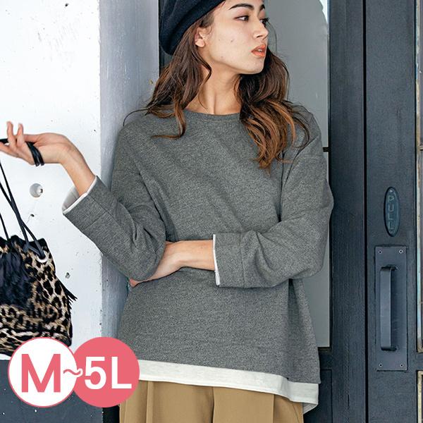日本代購-RyuRyu mall簡約假兩件圓領套頭上衣(共三色/M-LL) 日本代購,RyuRyu mall,假兩件