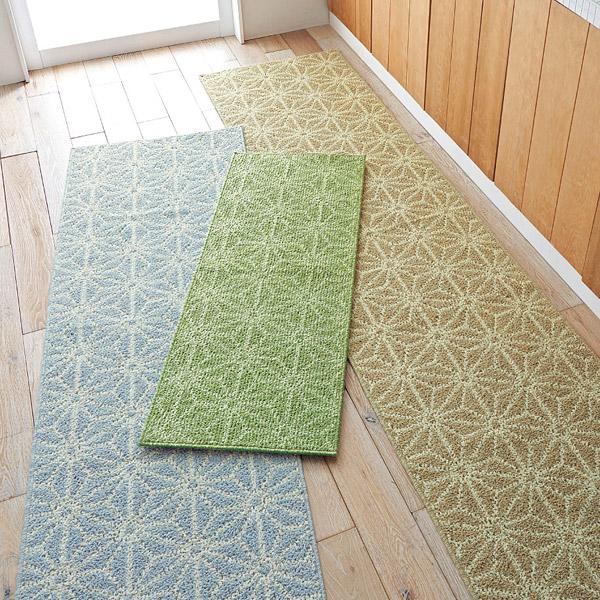 日本代購-和式花樣防蟎消臭棉麻地墊(共三色) 日本代購,東區時尚,腳踏墊