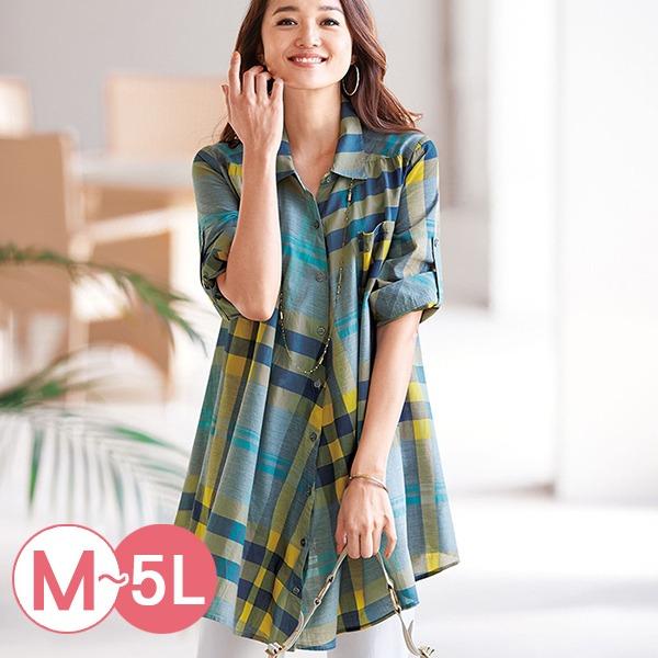 日本代購-portcros清爽配色格紋長版襯衫M-LL(共三色) 日本代購,portcros,格紋