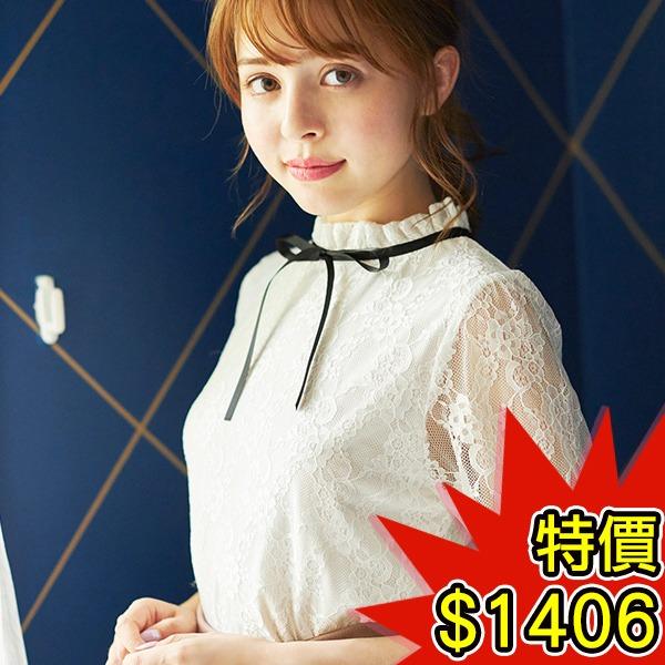日本代購-INGNI褶邊立領綁結公主袖上衣(共三色) 日本空運,東區時尚,公主袖