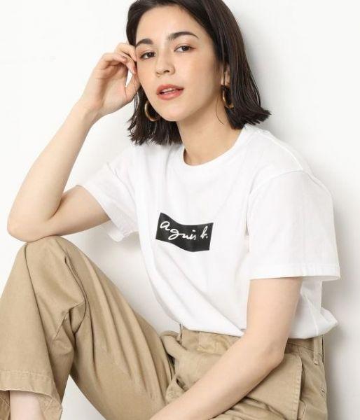 超值代購特價agnes b.小b方塊LOGO純棉短袖T恤(售價已折) agnes b.,T恤