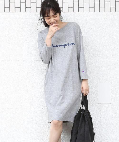 日本代購-Champion 9分袖連身裙 日本代購,Champion, 9分袖,連身裙