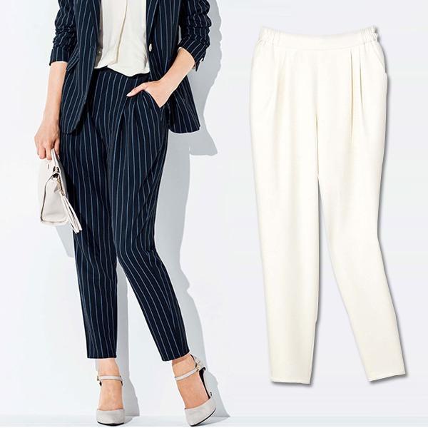 現貨-GINGER打褶設計彈性老爺褲(共五色/S-LL) 日本代購,GINGER,老爺褲