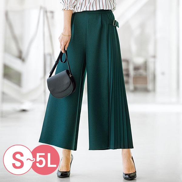 日本代購-portcros側邊百褶設計寬褲(共四色/S-LL) 日本代購,portcros,寬褲