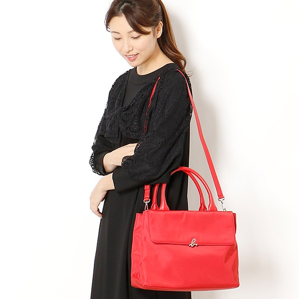 日本代購-特價agnes b.小b LOGO 2way手提/肩背包(售價已折) agnes b.,東區時尚,手提/肩背包