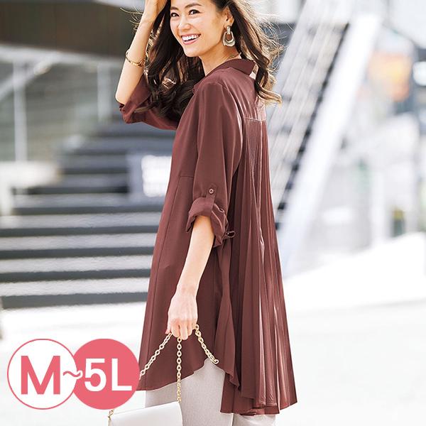 日本代購-portcros百褶設計優雅長版襯衫(共三色/M-LL) 日本代購,portcros,百褶