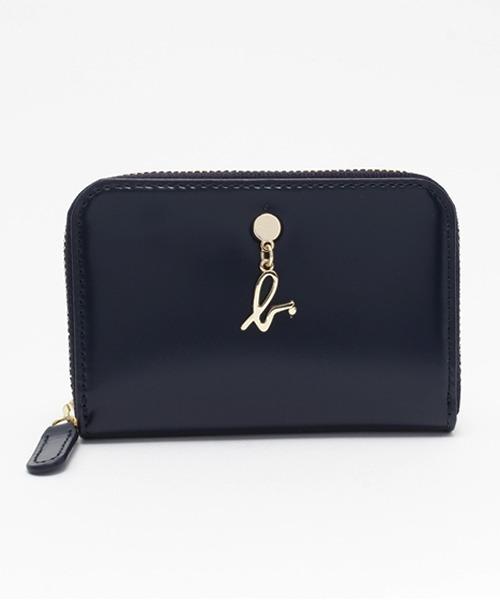 日本代購-agnes b.光澤感金屬LOGO零錢夾/卡夾 agnes b.,東區時尚,零錢夾,卡夾