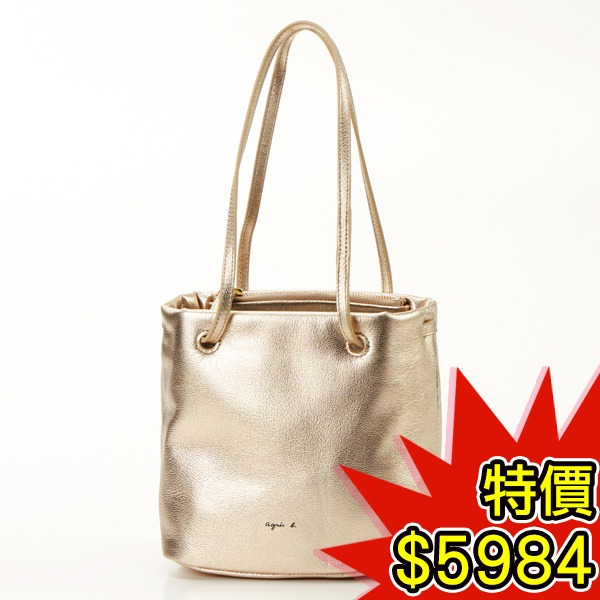 日本代購-agnes b.VOYAGE 金屬色2way小水桶包(共三色) agnes b.,東區時尚,水桶包
