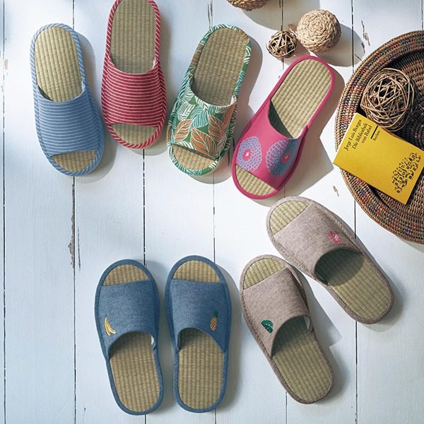 日本代購-草編彈性鞋墊室內拖鞋(共七色) 日本代購,東區時尚,拖鞋