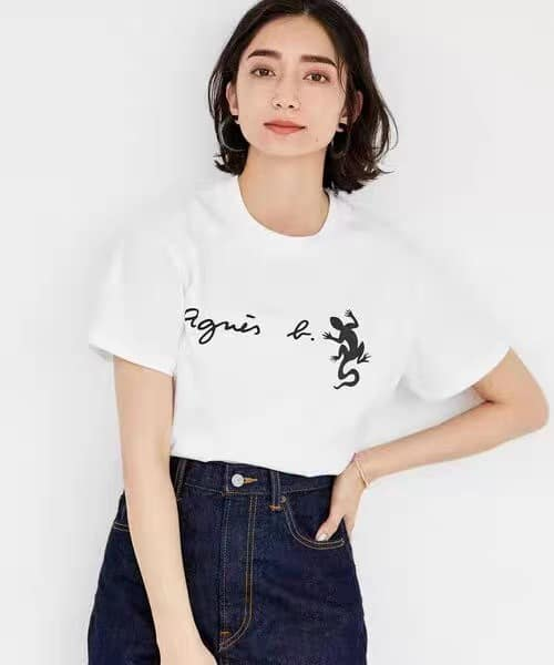 超值代購特價agnes b.蜥蜴純棉短袖T恤(售價已折) agnes b.,T恤