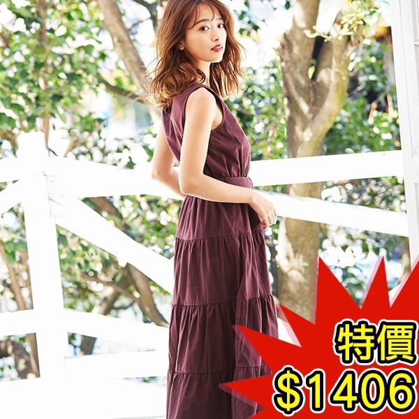 日本代購-INGNI層次裙擺V領附腰帶無袖洋裝(共五色) 日本空運,東區時尚,無袖