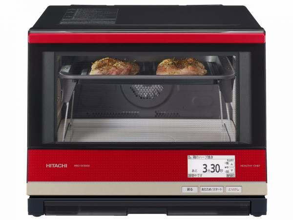 日本代購-日本製 HITACHI 日立 MRO-SV3000 紅 過熱水蒸氣微波爐烤箱33L 日本代購,日本帶回,東區時尚,日本製, HITACHI, 日立, MRO-SV3000, 微波爐