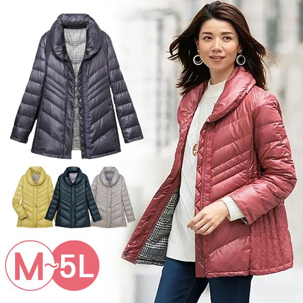 日本代購-簡潔俐落輕量羽絨外套(共五色/3L-5L) 日本代購,輕量,羽絨