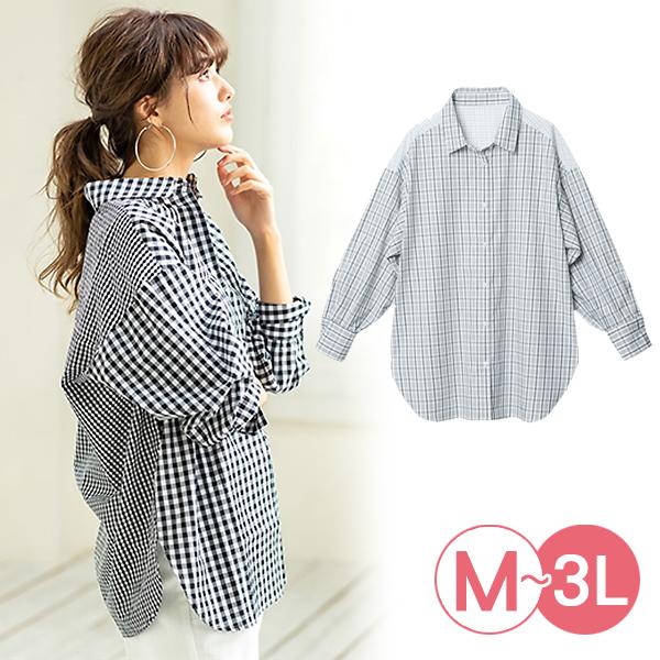 日本代購-portcros時尚剪接設計落肩袖襯衫(共二色/3L-5L) 日本代購,portcros,襯衫