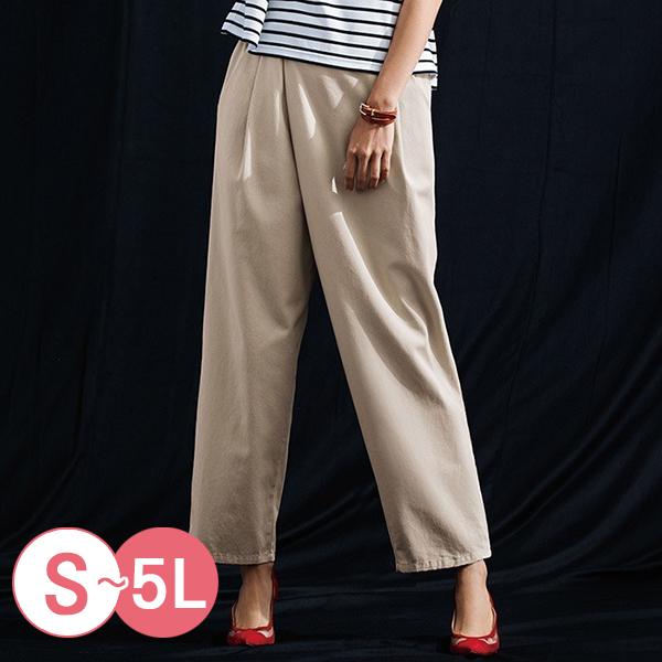 日本代購-portcros不對稱折縫造型寬褲(共四色/3L-5L) 日本代購,portcros,寬褲