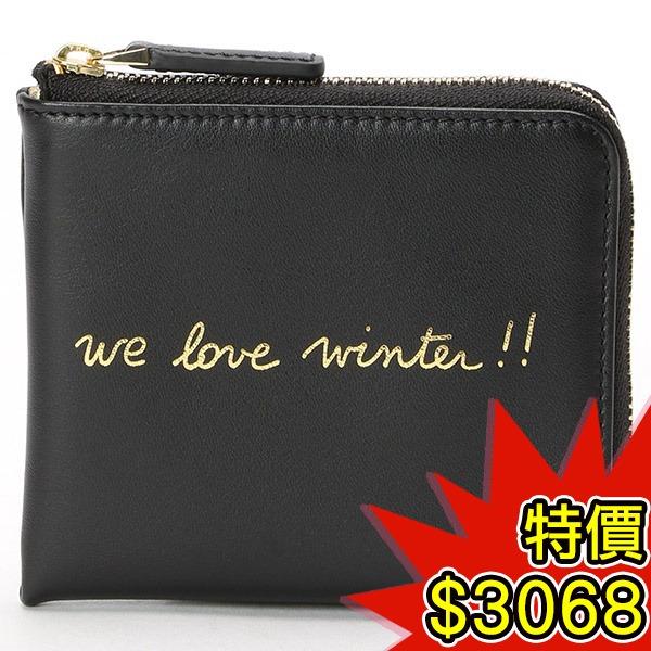 日本代購-agnes b.VOYAGE 手寫文字印花金屬質感內袋卡包零錢包(共三色) agnes b.,東區時尚,零錢包