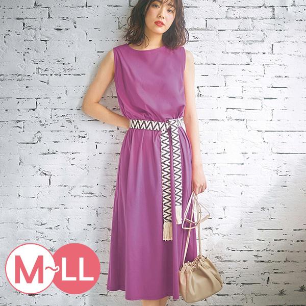 日本代購-流蘇民族風編織腰帶無袖洋裝(M-LL) 日本代購,民族風,無袖