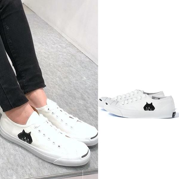 日本代購-にゃー×Converse聯名款 超可愛燙印貓咪臉LOGO帆布鞋 日本代購,Converse