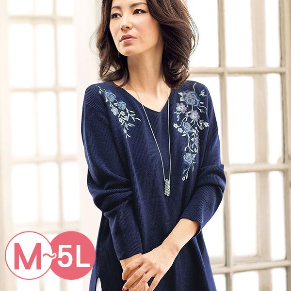 日本代購-portcros高雅玫瑰刺繡針織上衣(共五色/M-LL) 日本代購,portcros,刺繡