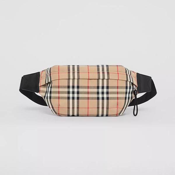 日本代購-Burberry 格紋中型腰包 agnes b.,日本代購,腰包