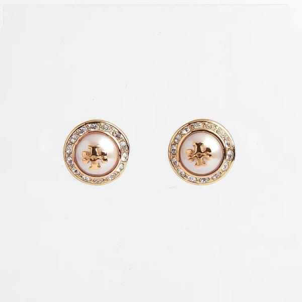日本代購-特價Tory burchtory burch真珠K金鑲鑽耳環(售價已折) 日本代購,Tory burch,珍珠,K金,耳環
