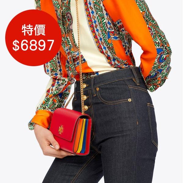 日本代購-Tory Burch皮革鍊帶多夾層隨身包(共三色) agnes b.,東區時尚,肩背包