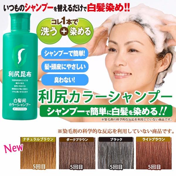 日本代購-日本製 無添加 利尻昆布 洗髮護色染髮洗髮精(共四色) 日本空運,東區時尚,洗髮精