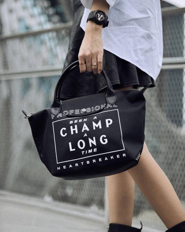 LONGCHAMP x EU 尼龍手提包S號 日本代購,Longchamp