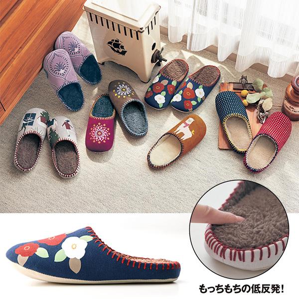 日本代購-溫暖內鋪毛記憶泡棉防滑室內拖鞋(共四色) 日本代購,拖鞋