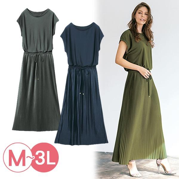 日本代購-portcros優雅連身百褶裙洋裝3L(共三色) 日本代購,portcros,百褶