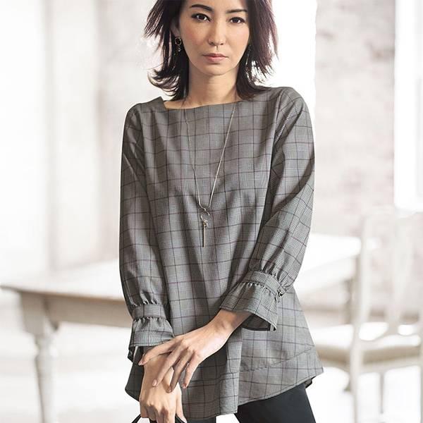 日本代購-portcros方領袖口皺褶襯衫(共四色/M-LL) 日本代購,portcros,上衣
