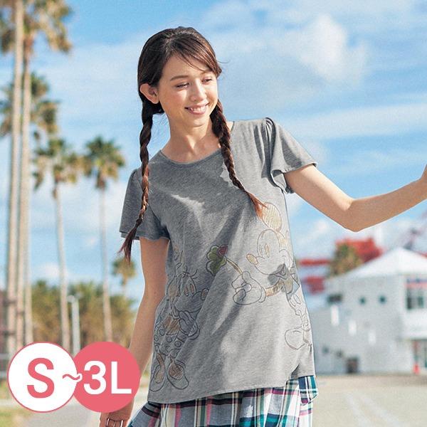 日本代購-迪士尼米奇維尼寬袖A字形T恤(共八色/S-LL) 日本空運,東區時尚,T恤