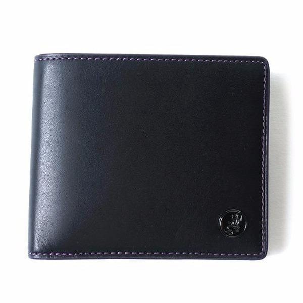 特價款-現貨agnes b. 蜥蜴鐵牌紫色內裡男用皮革短夾 agnes b.,日本代購,短夾