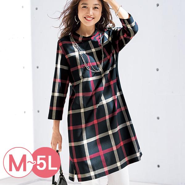 日本代購-portcros立領折縫八分袖長版上衣(共三色/3L-5L) 日本代購,portcros,長版