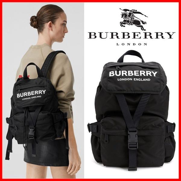 日本代購-特價BURBERRY小型徽標印花尼龍後背包(售價已折) 日本代購,BURBERRY,後背包