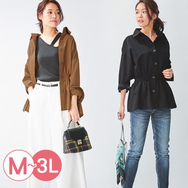 日本代購-portcros設計感抽褶收腰襯衫(共四色/3L) 日本代購,portcros,襯衫