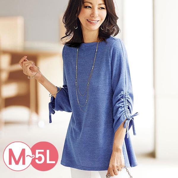 日本代購-現貨portcros袖子抽繩方形領中長版上衣(藏青色/M) 日本代購,portcros,抽繩