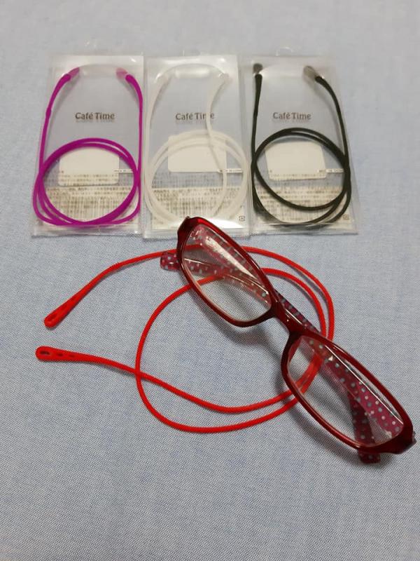 日本代購-特價日本不易脫落眼鏡掛繩(售價已折) 日本必買,日本代購不易脫落眼鏡掛繩