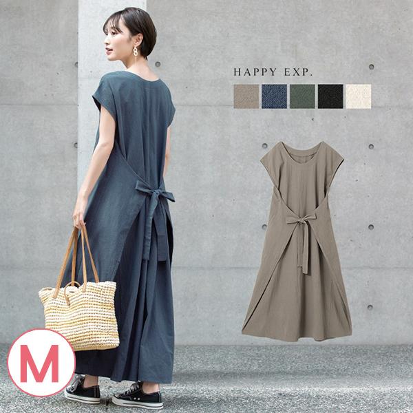 日本代購-皺感純棉2way前後綁結洋裝(共四色/M) 日本代購,洋裝