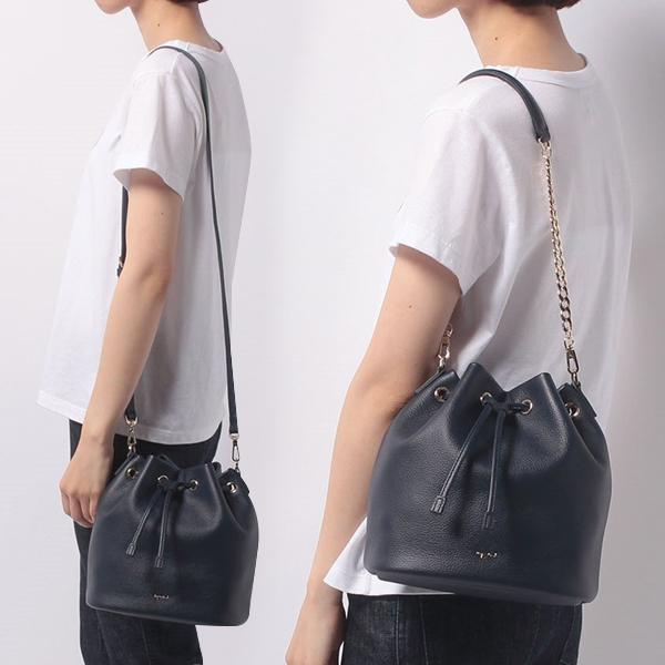 日本代購-agnes b. 牛皮束口鏈帶肩背斜背2Way水桶包-小 agnes b.,東區時尚,水桶包