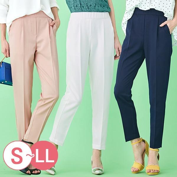 日本代購-portcros舒適鬆緊腰折縫鉛筆褲S-LL(共六色) 日本代購,portcros,鉛筆褲