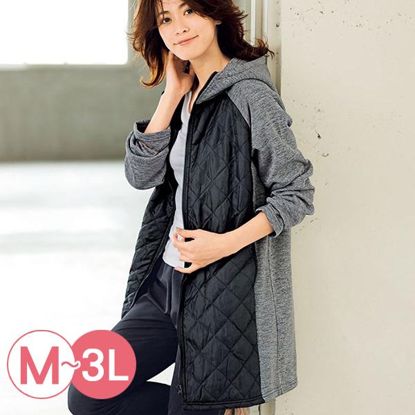 日本代購-RyuRyu mall連帽拉絨拼接絎縫鋪棉夾克(共二色/M-LL) 日本代購,RyuRyu mall,拼接